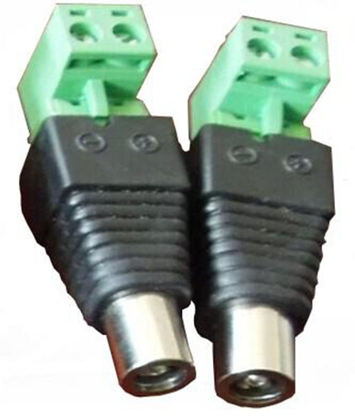 L type DC female Connector,DC .5.5*2.1MM