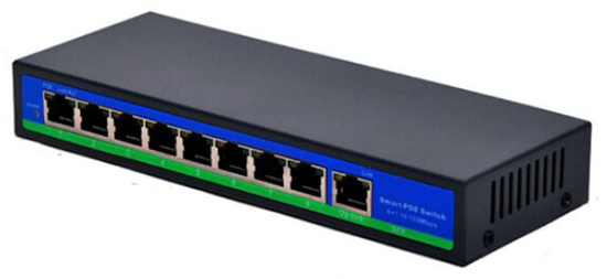 Active 8+1 8 Port POE Switch External